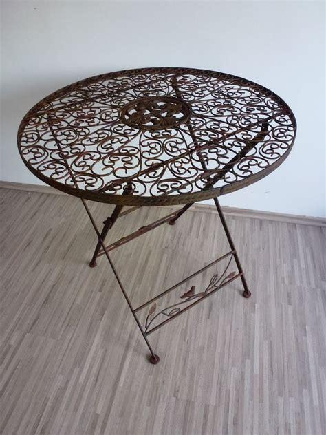 Tisch Rund Metall by Gartentisch Klapptisch Metalltisch Tisch Metall Rund 70 Cm