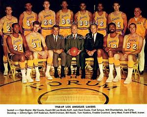 1968-69 LOS ANGELES LAKERS 8X10 TEAM PHOTO BAYLOR ...