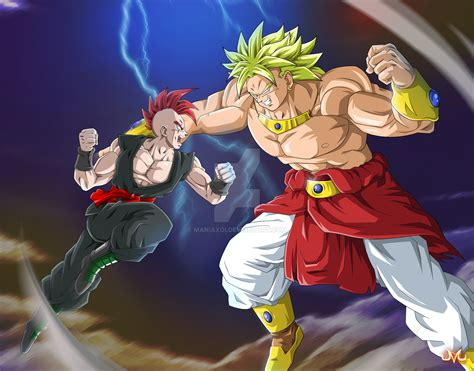 Dragon Versus Broly By Maniaxoi On Deviantart