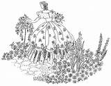 Embroidery Crinoline Lady Garden Transfer Patterns Transfers Pattern Hand Designs Belle Machine Etsy Items Seller Stitch Cross Sold sketch template