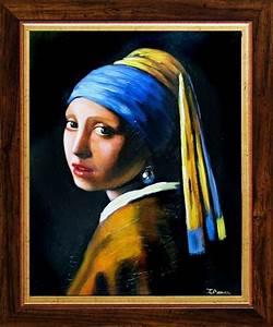 Das Mädchen Mit Dem Perlenohrring Gemälde : jan vermeer das m dchen mit dem perlenohrring 32x27cm lgem lde ebay ~ Watch28wear.com Haus und Dekorationen