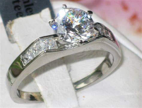 Str815 Stainless Steel 316l Solitaire Engagement Ring