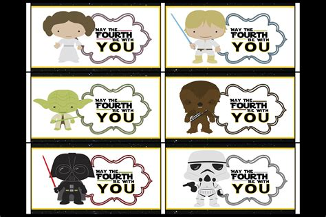Free Star Wars May The Fourth Be With You Party Printables