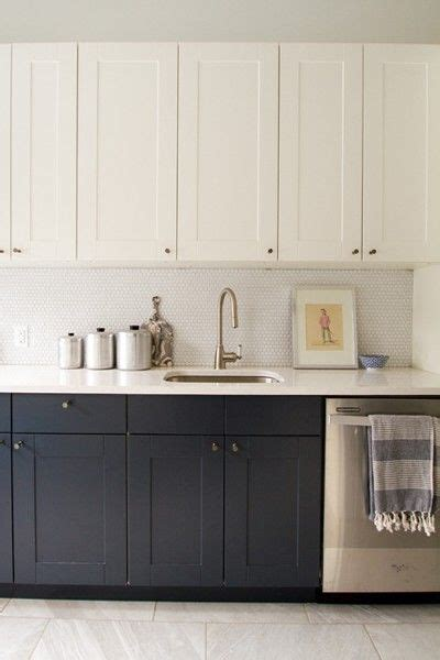 color cabinets add dimension  lighter upper
