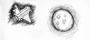 Drawn pencil moon - Pencil and in color drawn pencil moon