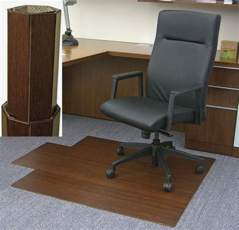 amb24011 cherry bamboo desk chair mat by anji mtn