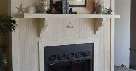 love the beadboard around the fireplace. threepixielane