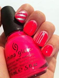 Glam Polish Pink Wednesday China Glaze Pool Party Neon