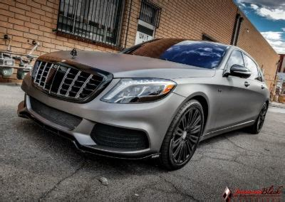 mercedes benz maybach   wrapped  charcoal matte