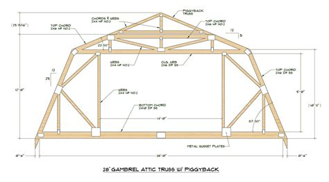 12x24 Gambrel Shed Plans by Discussion Of Gambrel Roof Designs With Attics