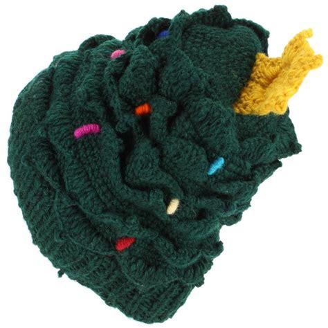 loudelephant wool knit christmas tree hat with warm fleece