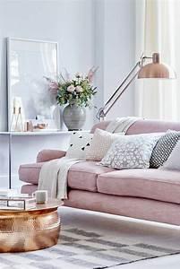 Table Basse Cuivre Rose : 1001 id es d co originales pour le salon rose et gris ~ Melissatoandfro.com Idées de Décoration