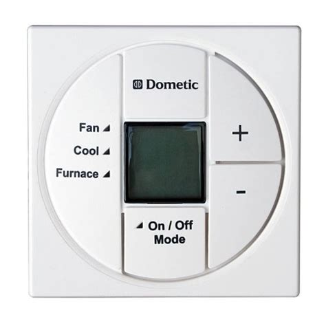 dometic 3313192 000 white single zone lcd thermostat heat cool fan new ebay