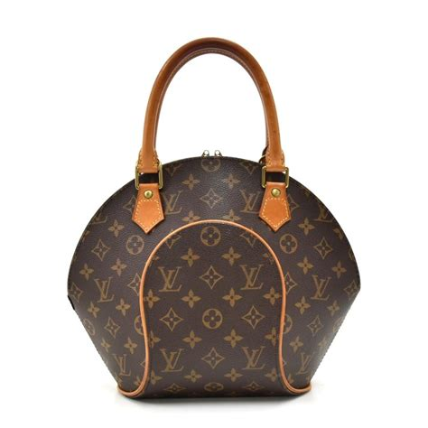 louis vuitton ellipse vintage pm monogram handbag brown cotton canvas hobo bag tradesy