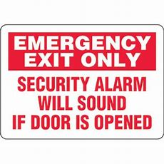 Ecofriendly Signs  Emergency Exit Only Security Alarm Will Sound If Door Is Opened From Seton