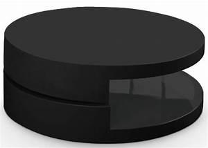 Table Basse Noire Ronde : table basse ronde laqu e pivotante noir gloos ~ Teatrodelosmanantiales.com Idées de Décoration