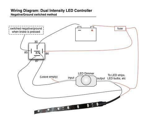 Wiring Led Brake Lights Running Light Controller Diagram
