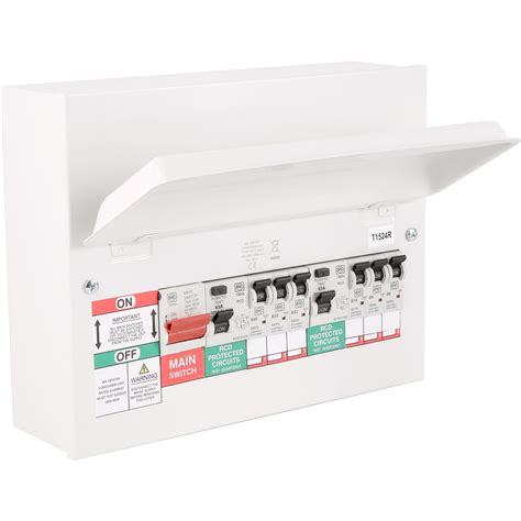 mk metal 17th edition amendment 3 high integrity dual rcd 6 mcbs consumer unit 6 way