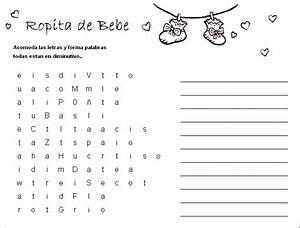 Best Juegos Para Baby Shower Crucigrama Para Imprimir Image Collection