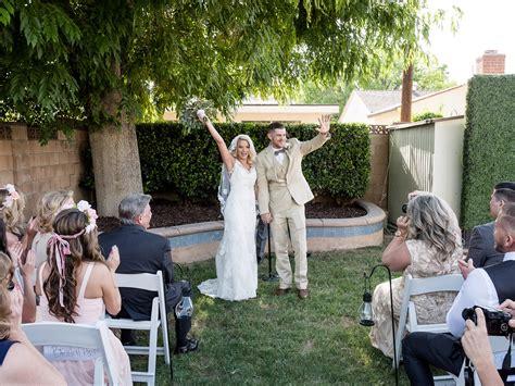 rustic  romantic backyard wedding