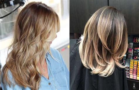 idee  capelli biondi bruni sfumati  decolorati