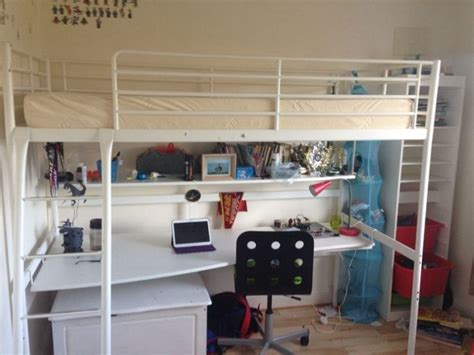 Bunk Bed With Desk And Futon Ikea by Ikea Svarta High Sleeper Bed For Sale In Frankfield Cork