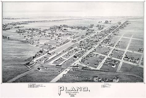 1890 vintage map of plano texas photograph by stephen stookey