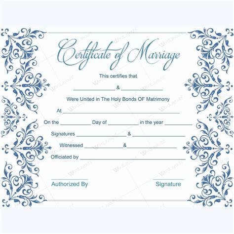 fake marriage certificate template dotxes