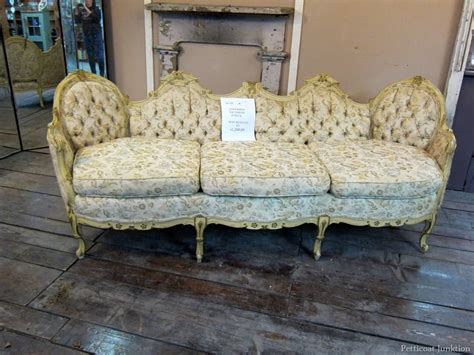 Antique Furniture Sofa swooning an ornate antique sofa petticoat junktion