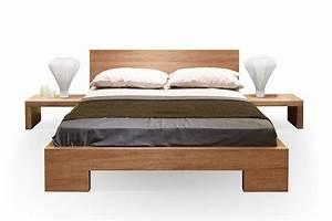 Lit Bois Massif Design : meuble t te de lit bois ~ Teatrodelosmanantiales.com Idées de Décoration