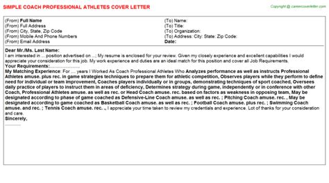 Coach Cover Letter - Costumepartyrun