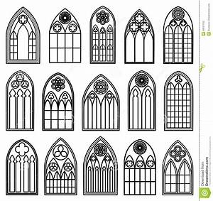 Gotische Fenster Konstruktion : gothic window silhouettes stock vector illustration of ~ Lizthompson.info Haus und Dekorationen