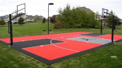 cost  install  basketball court