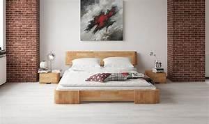 Lit Design Bois : lit en h tre mezzo meubles pour chambre coucher haut de gamme en bois naturel ~ Teatrodelosmanantiales.com Idées de Décoration