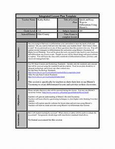 14 best images of all about me worksheet high school With bloom taxonomy lesson plan template