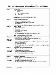 lib100 syllabus template With online course syllabus template