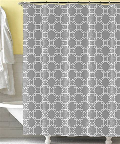 Gray & White Mod Shower Curtain College Life