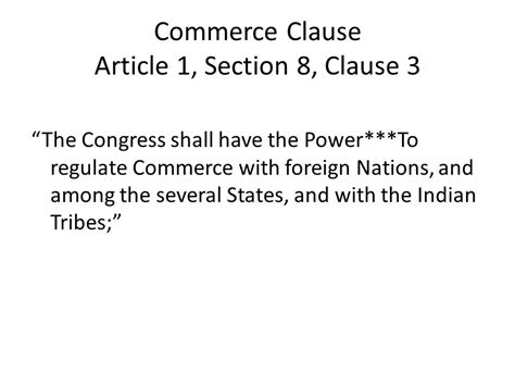 us constitution article 1 section 8 important constitutional clauses terms ppt