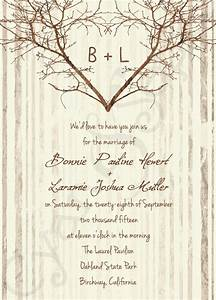 printable wedding invitation 5x7 branch heart tree With free printable tree wedding invitations