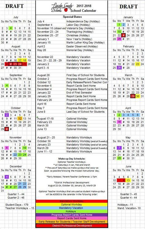 proposed calendar public input