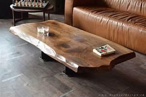 Table Bois Massif Contemporaine : table basse contemporaine bois massif micheli design ~ Teatrodelosmanantiales.com Idées de Décoration