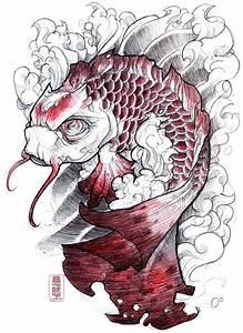 Koi Tattoo Vorlagen : 162 besten koi tattoo bilder auf pinterest japan tattoo japanische tattoos und tattoo vorlagen ~ Frokenaadalensverden.com Haus und Dekorationen