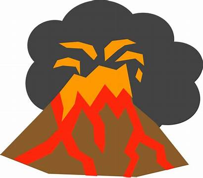 Volcano Clipart Eruption Volcanic Magma Background Transparent