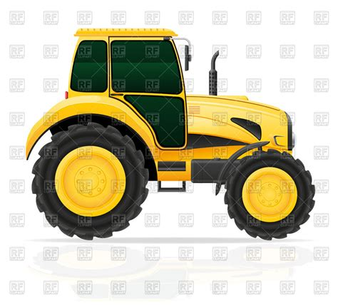 yellow tractor clipart   cliparts  images