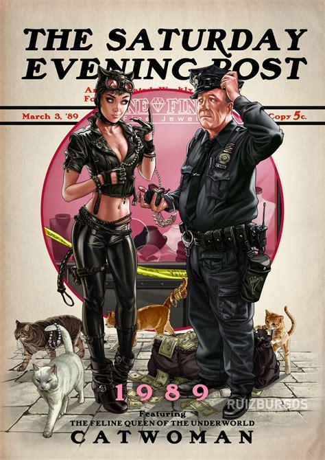 Catwoman 1989 - Ruiz Burgos' Saturday Evening Post Series ...