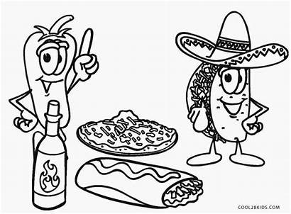 Coloring Pages Mexican Printable Unhealthy Drawing Cool2bkids