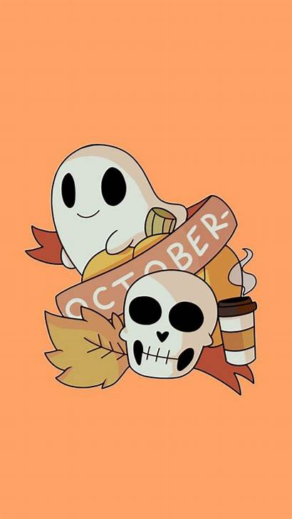 Halloween Aesthetic Iphone Spooky Backgrounds Wallpapers Ghost