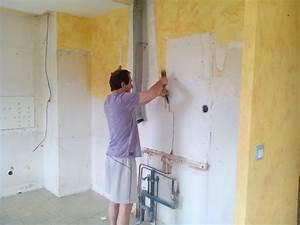 Preparation d39un mur abime avant peinture for Poncer mur avant peinture