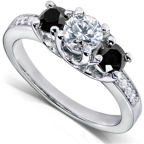 black and white wedding rings black and white engagement rings black ring