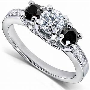 Black and white diamond engagement rings black diamond ring for Wedding rings with black and white diamonds